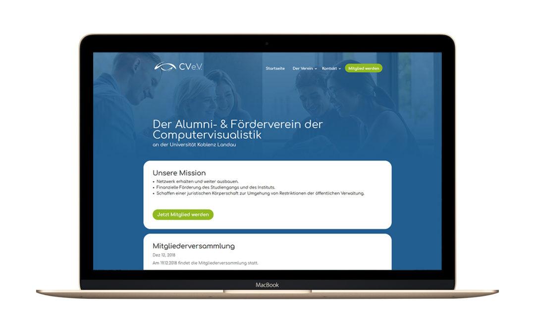 Webseite CV e.V.